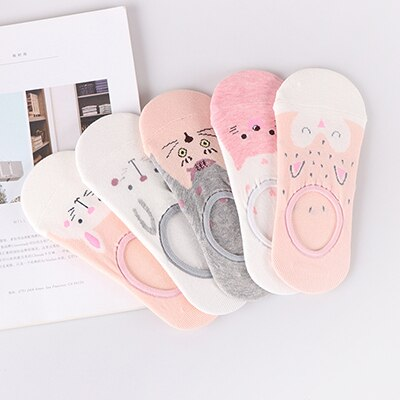 """Lapin"" Rose Pack x5 Socquette"