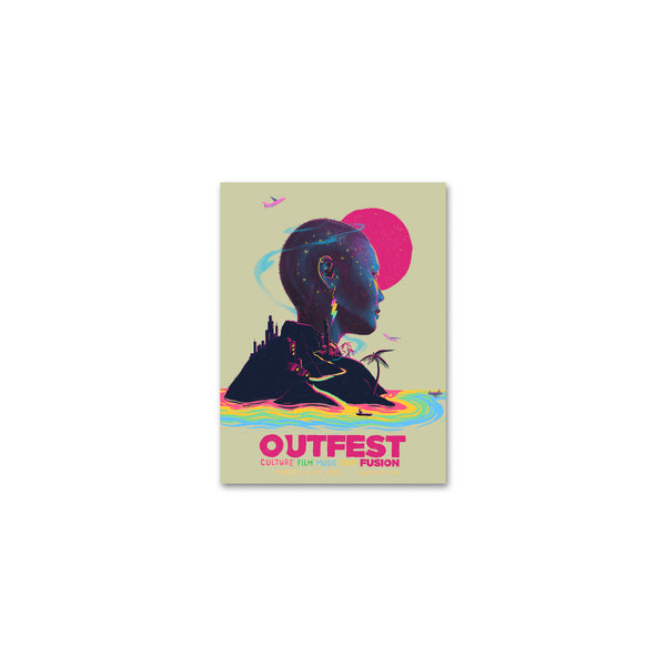 "2020 Outfest Fusion Sticker - 3"" x 4"""