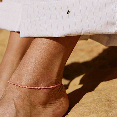 ANNI LU | Wave Anklet Rose