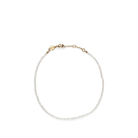 ANNI LU | Wave Anklet White Smoke