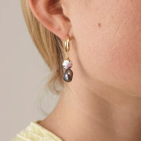ANNI LU | Øreringer | Heloise Pearl Earrings PAR Lustrous Black