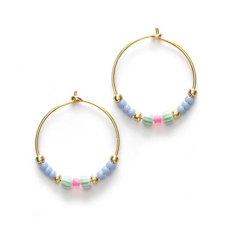 ANNI LU Peppy Hoop Earrings Dawn Blue