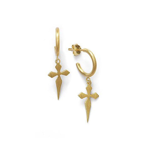 ANNI LU Cross - Single hoop earring
