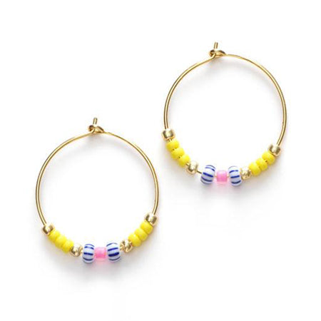 ANNI LU Peppy Hoop Earrings Lemon Drop