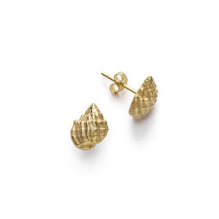 ANNI LU Conch Shell Earrings Gold
