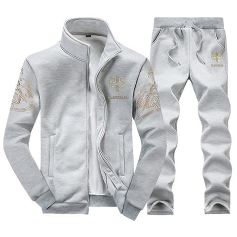 Sweatshirt + Sweatpants Brand Track Suit Set