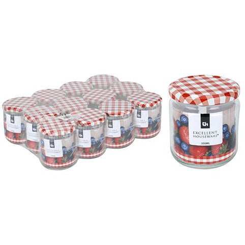 GLASS JAR 350ML METAL LID KOP-470