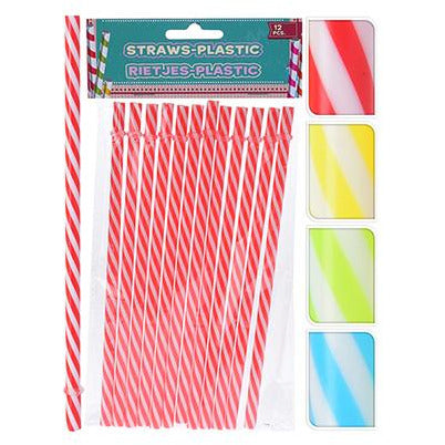 DRINKING STRAWS SET 12PCS KOP-487