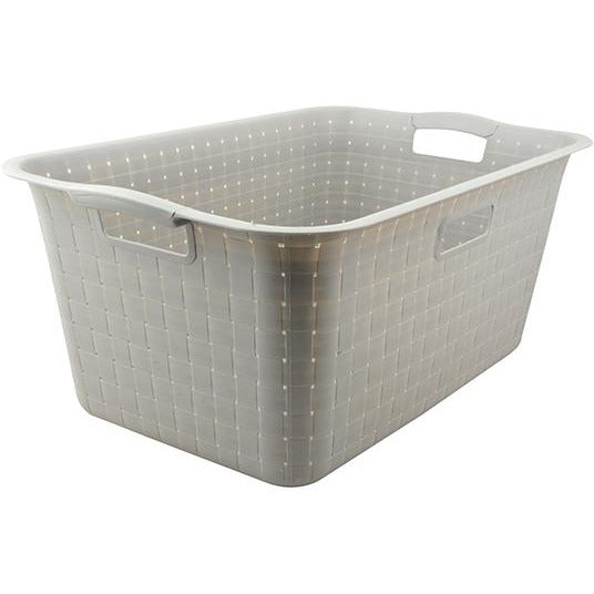 LAUNDRY BASKET DAY BRAND PLASTIC GREY HP-101