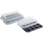 MUFFIN PAN 12 CUPS W/LID DAY BRAND CARBON STEEL BLACK HP-048