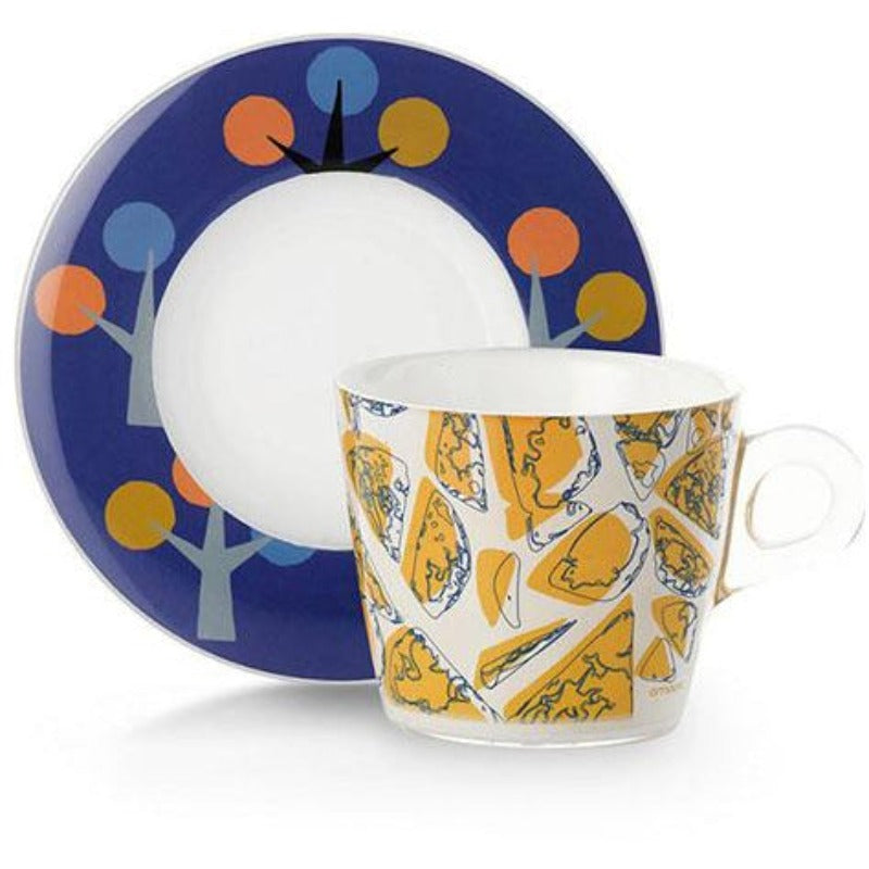 Set 2 Plexart Capppucino/Breakfast Cups Nature OMA-436