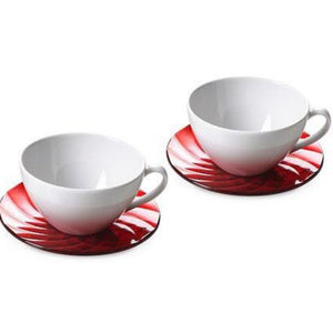 Diamond Cappuccino 2 Cups Set Red OMA-361