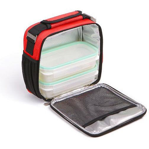 UF PRIME W/2 FOOD CONTAINERS CLIP SAFE SRP 3 - RED - TAT-453