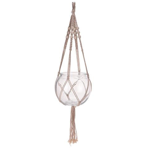 MACRAME WITH GLASS KOP-296