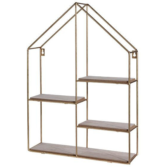DISPLAY RACK METAL GOLD CLR KOP-333