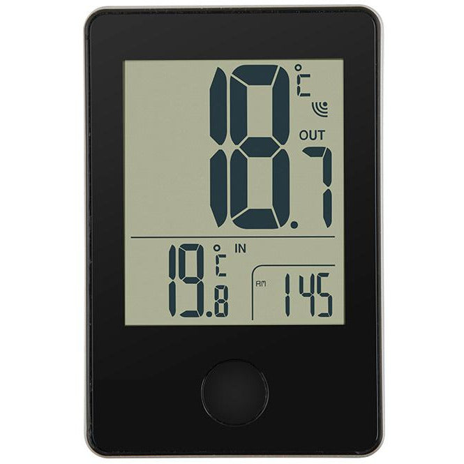 IN/OUT THERMOMETER DIGI DAY BRAND PP BLACK /WHITE HP-031