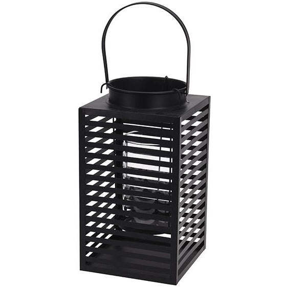 LANTERN METAL MATT BLACK CLR KOP-306