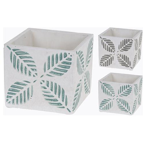 FLOWER POT CEMENT SQUARE KOP-400