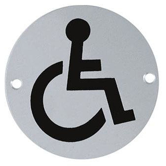 ROUND SIGNAGE DISABLED EUR-077