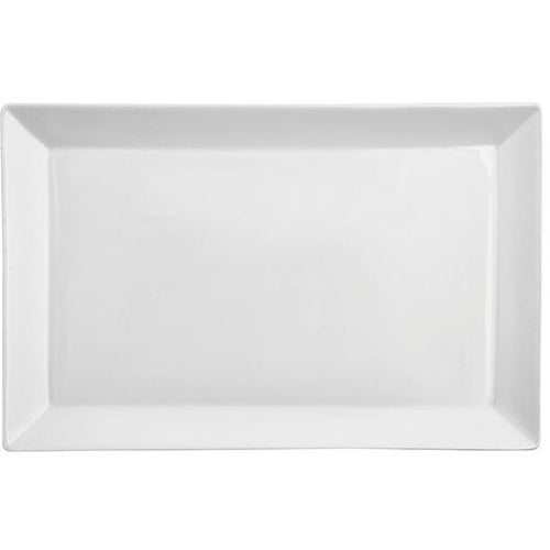 DISH/PLATE 40X26X2.5CM ANYTIME BRAND PORCELAIN WHITE HP-080