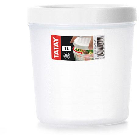 FOOD CONTAINER TWIST 1 L. SRP 6 - WHITE - TAT-440