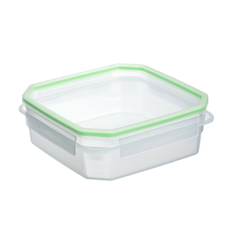 FOOD CONTAINER CLIP SAFE 1,3L TRANSP-GREEN - TAT-577