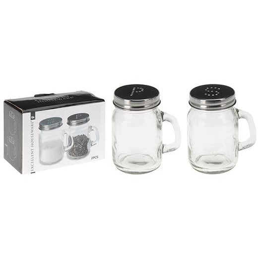 SALT AND PEPPER SHAKER GLASS KOP-405