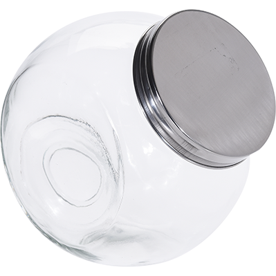 STORAGE JAR GLAS W METAL LID KOP-239