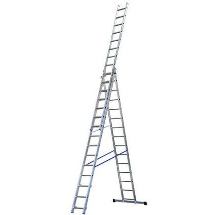3 SECTION ALUMINIUM LADDER 3X15 RUNGS GIE-013