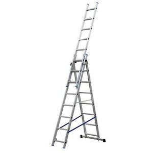 3 SECTION ALUMINIUM LADDER 3X8 RUNGS GIE-011