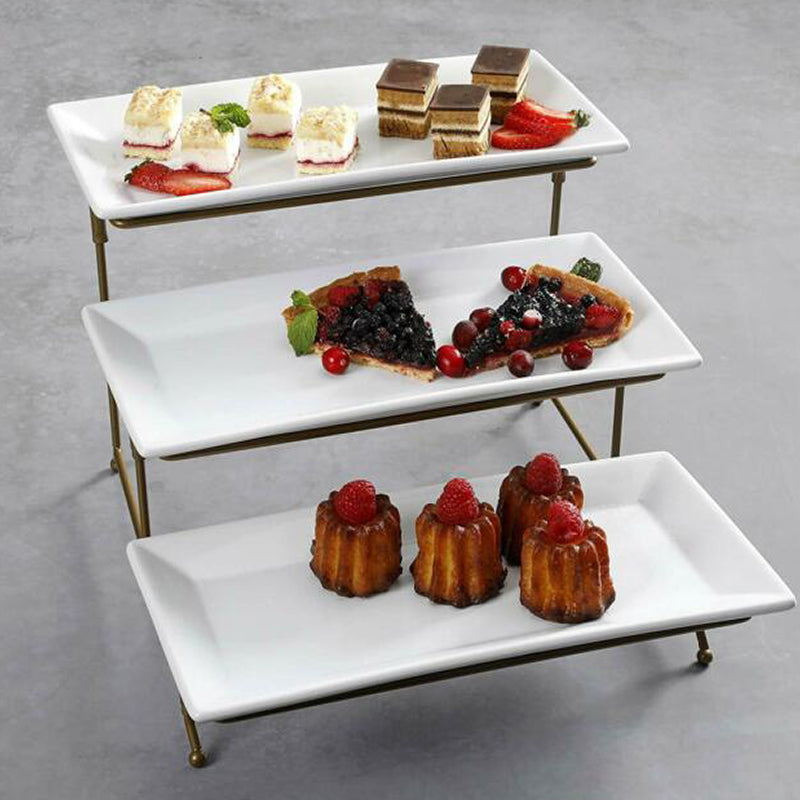 3 Tier Rectangular Serving Stand with Trays