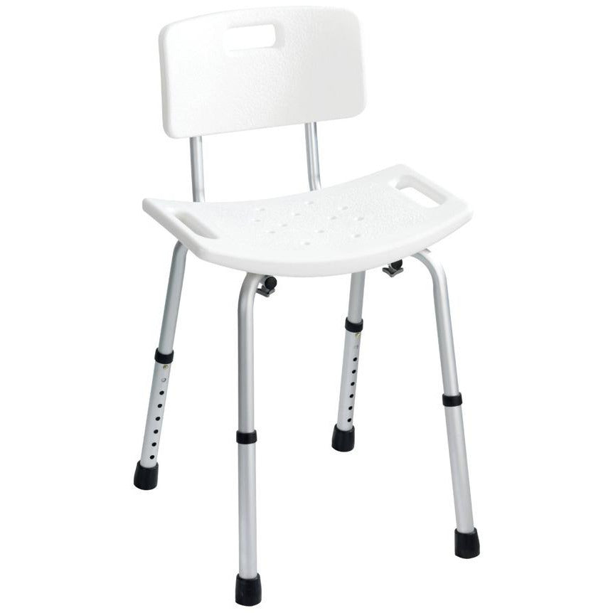 Bath stool with back rest, Model Secura