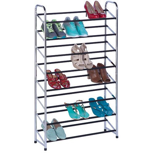 Chrome Rolling Shoe Tower HON-024