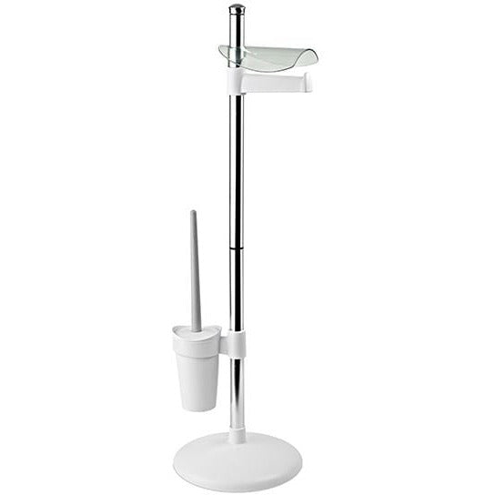 White Toilet Brush And Tissue Paper Stand TAT-230