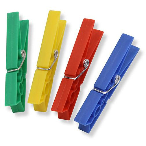 Multicolour Plastic Clothespins in a Pack of 50 HON-010