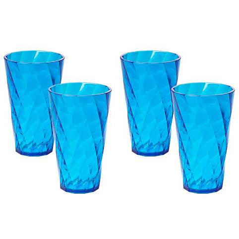 SET 4 DIAMOND GLASSES 0.5LTR TERQUISE OMA-344