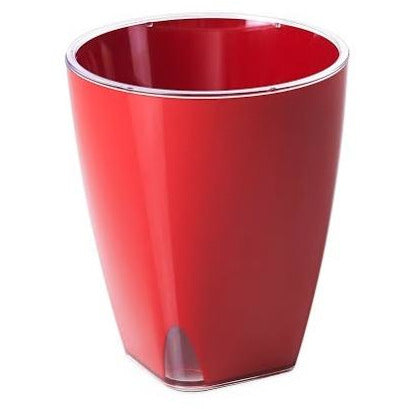 ACQUADEA POT D 18 , 17 RED WITH SELF WATERING SYSTEM OMA-244