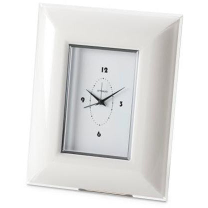 GLAMOUR WALL CLOCK - Rectangle - White OMA-236