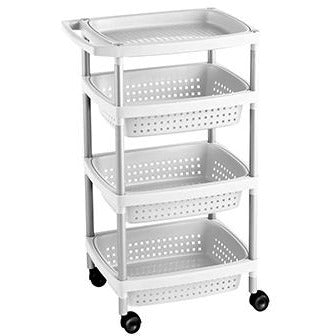 VEGETABLE TROLLEY 4 WHITE TAT-121