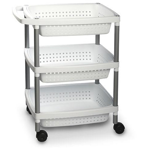 VEGETABLES TROLLEY WHITE TAT-119