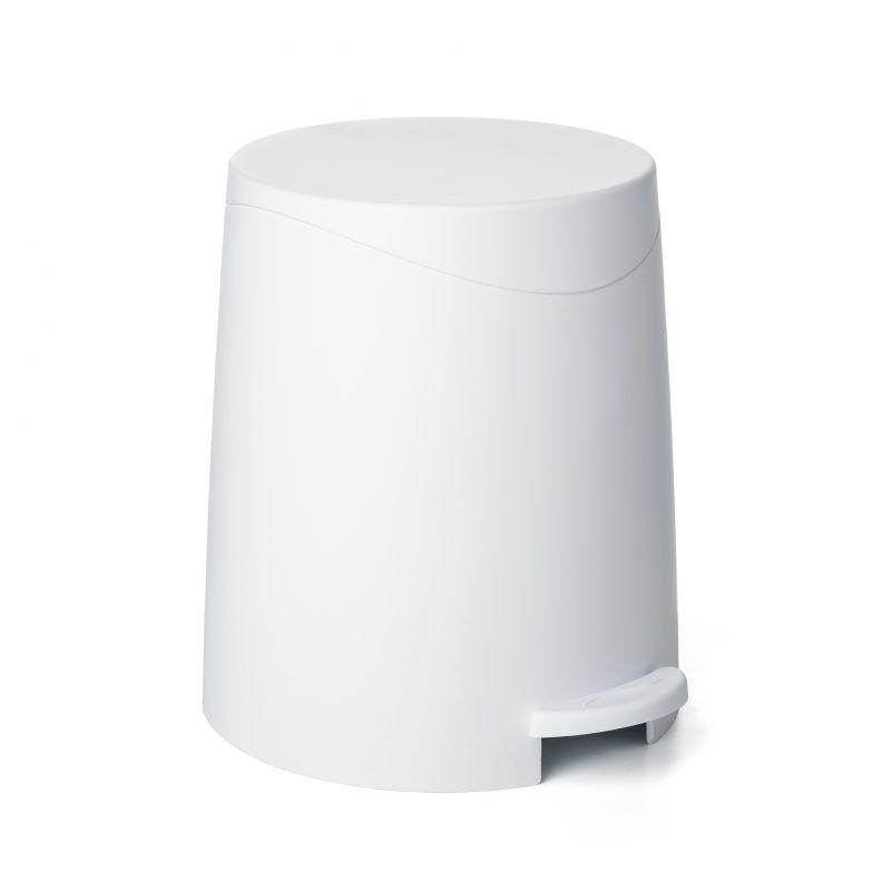 BATHROOM PEDAL BIN 3L MILAN WHITE - TAT-589