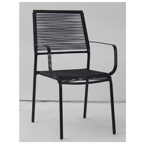 CHAIR METAL STACKABLE BLACK KOP-056