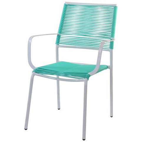 CHAIR STACKABLE METAL GREEN KOP-057
