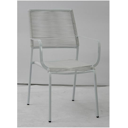 CHAIR STACKABLE METAL WITH PE KOP-055