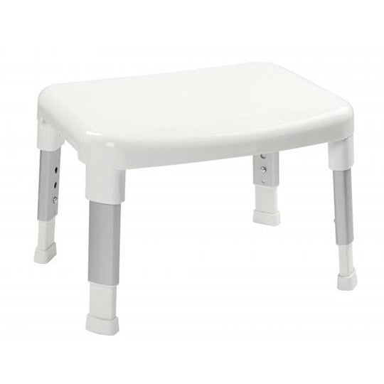 Small White Adjustable Shower Stool CRY-082