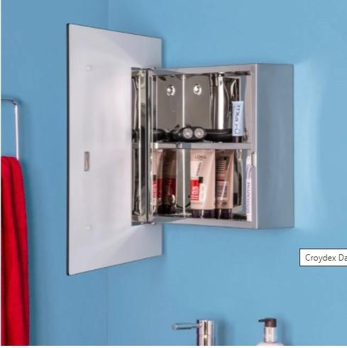 DART SQUARE MIRROR CABINET CRY-026