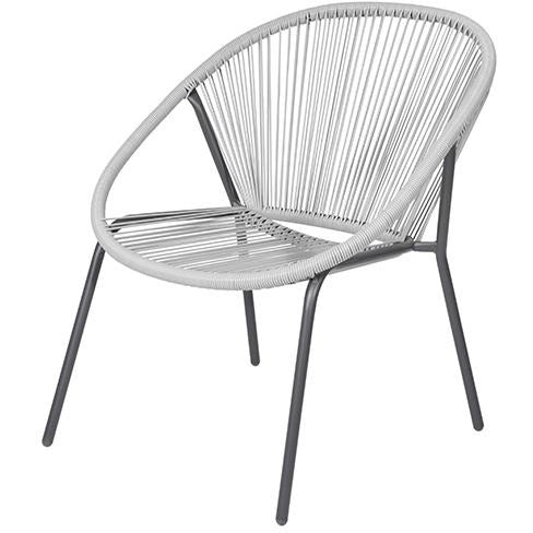 STACK CHAIR METAL OFF WHITE KOP-287
