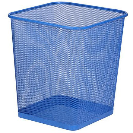 MESH TRASH CAN BLUE SQUARE - HON-056