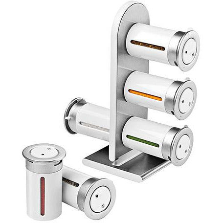 MAGNETIC SPICE RACK 6 CANISTER W/S - HON-079