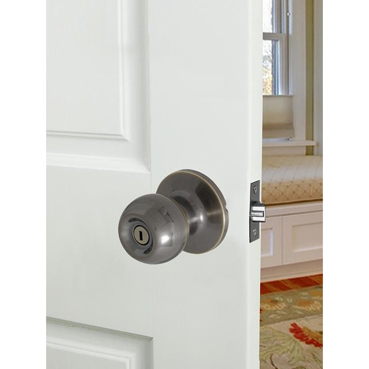 Ball Knobset Lock Bathroom Ab